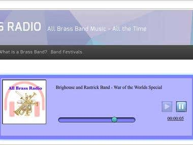 javascript radio player for http://www.allbrassradio.com/