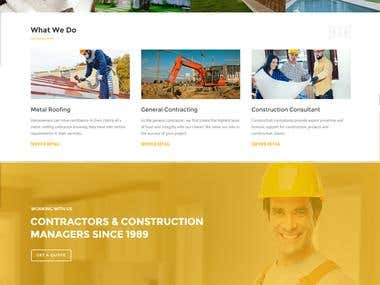 Construction Company Webpage