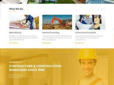 Construction Company Webpage