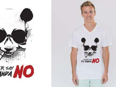 Never Say No To Panda T-Shirt Design