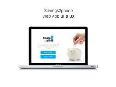 Savings2phone Web App UI & UX
