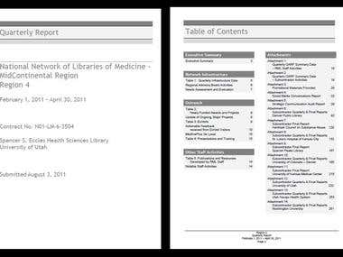 Report - Document Design and layout