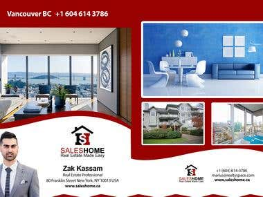 Marketing Brochure for Sales Home Canada