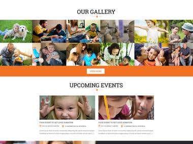 WordPress website (http://www.voicesforautism.co.uk/)