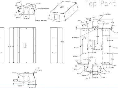 Drafting Manufacturing Drawing, Engineering Drawing