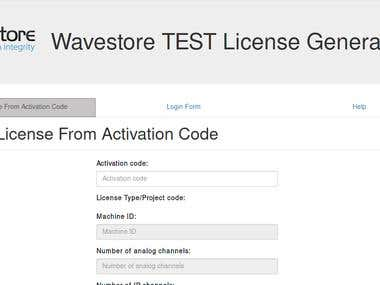 Online Licence Generator for Wavestore Global Ltd.