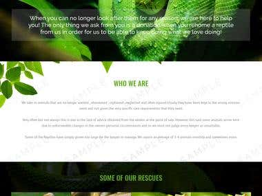 Reptile /Animal Zoo Website template