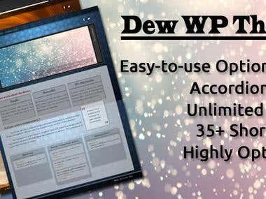 Dew Transparent Wordpress Theme