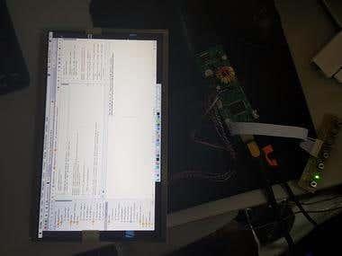 NT68676 LCD monitor board.