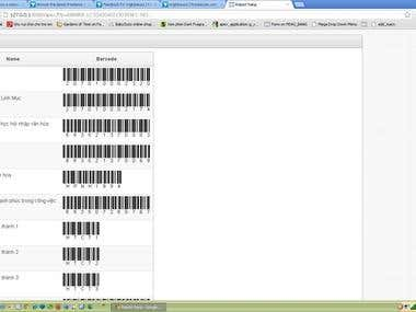 Print barcode from Web-app or Access