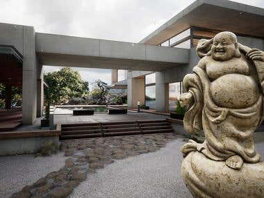 3d Scanned Buddha and Architecual Visualization