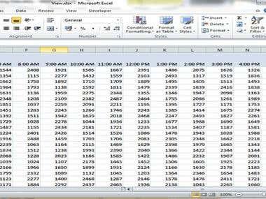 Quarterly Records of Data