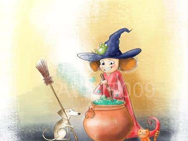 Kids Cartoon Book Illustration