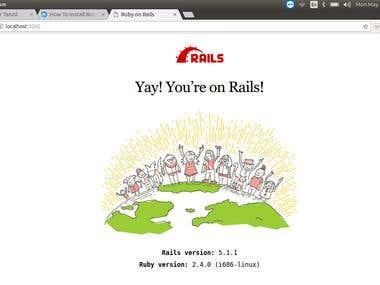 rails setup