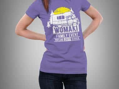 Womaki t-shirt & logo