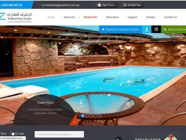 Zukhrof Real Estate Website development