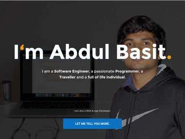 My Portfolio Website (www.abdulbasit.info)