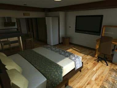 3D Virtual Reality Room