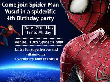 Birthday Event with Spider Man theme