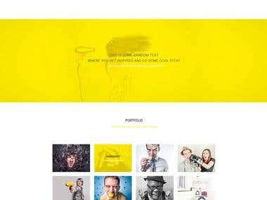 Web page PSD design