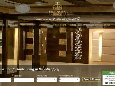 Web Portal for Hotel with Online Booking System