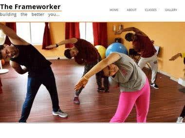WordPress website (http://www.theframeworker.com/)