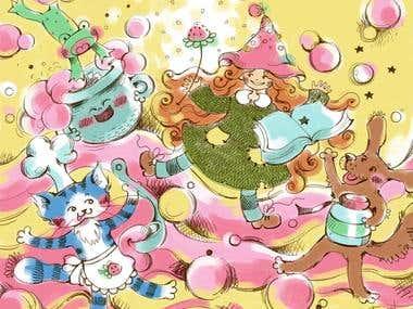 Concept illustration for childrens book