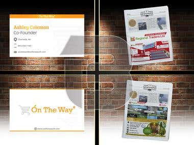 Newspaper adds & Business card design