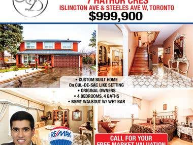 A5 flyer designs for a Real Estate Agent