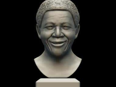 Bust of Nelson Mandela