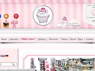 KitschCakes Website