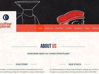 Coffee Planet Website