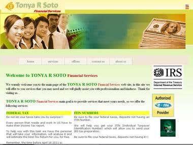 Tonya R Soto Web Page