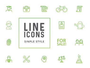 Linear simple icons.