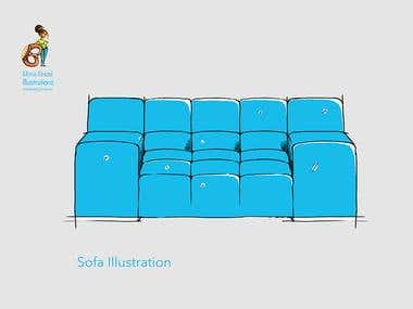Furniture illustrations