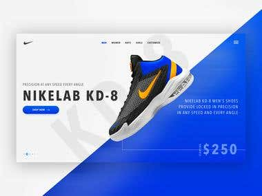 Nike KD-80 Website Design