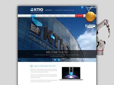 K-TIG Webpage Design