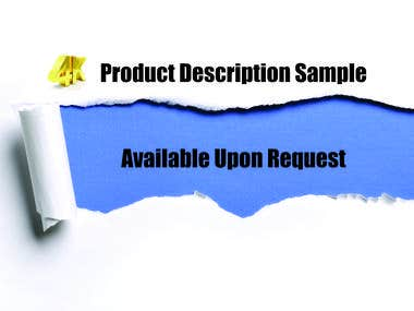 High Conversion PRODUCT DESCRIPTIONS