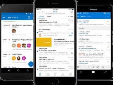 Mobile App (Email Client App)
