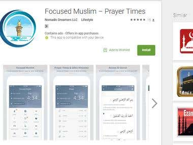 Prayers' Times App