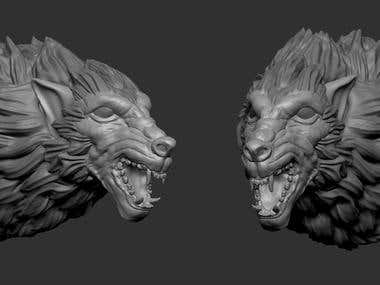 Wolf Sculpt for 3d printing