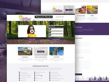 Website Design of All Round Tree Service