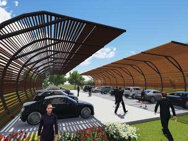 Parking sheds Design