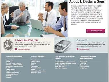 Wordpress website created for IdachsInsurance
