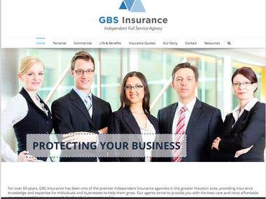 Wordpress Website GBSInsurance