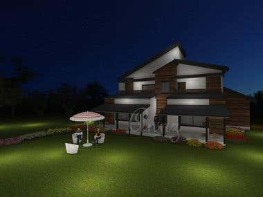 Huts Elevation Design