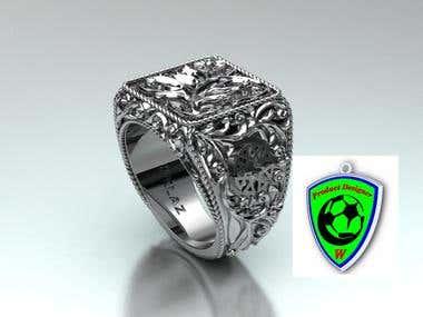 Seek Silver Ring design for OKLAZ brand