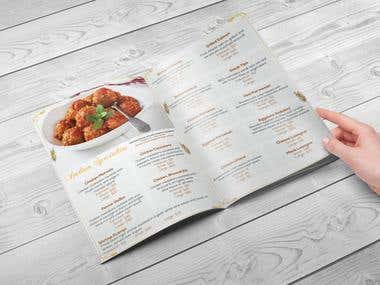 Corporate Catering Menu Design