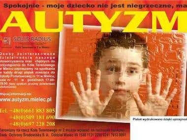 Poster A3 size for Polish Autistic Associations