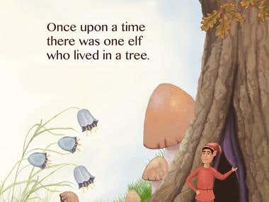 Elf who lived in a tree illustration.
